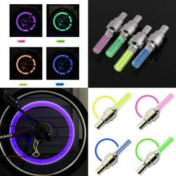 1 INDIVIDUAL LED CAP bike valve stem flashing Light Bicycle