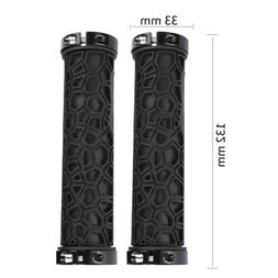 1 Pair Bicycle Handlebar Grips Double Lock On Mountain Bike