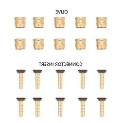 10 Set Bike Bicycle Copper Olive Connector Insert Replacemen