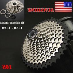 SUNSHINE 10Speed 11-40/42T MTB Road Bike Cassette Steel Holl