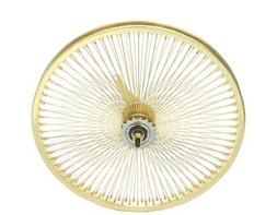 "20"" 144 Spoke Coaster Wheel Gold"