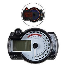 15000RPM km/h MPH Backlight Digital LCD Motorcycle Speedomet