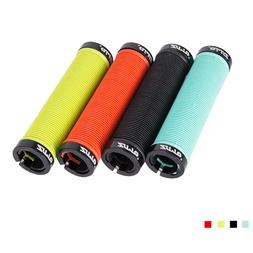 1Pair Handlebar Grips Silicone Lock On Anti slip Grips for F