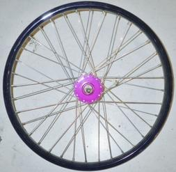 "20"" FRONT PURPLE/PINK GIRL'S BICYCLE RIM BIKE PARTS RMR82"