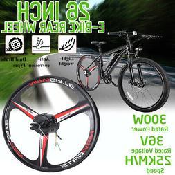 26''36V 300W E-bike Rear Wheel Hub Motor Electric Bicycle Co