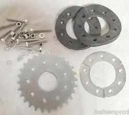 28 teeth flat sprocket with mount - 80cc Motor bicycle GAS E