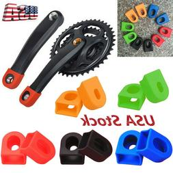 2Pcs Bicycle Crankset Protective Cover Sleeve Bike Arm Boots