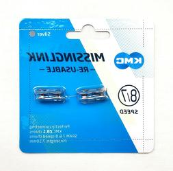 2PCS KMC Missing Link II 7.1mm 6 7 8 speeds Silver Re-usable