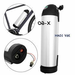 36V 10Ah Silver Bottle Lithium Battery Waterproof E-bike Ele