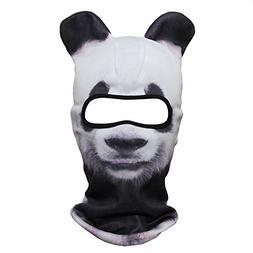JIUSY 3D Animal Ears Balaclava Windproof Face Mask Sun Prote