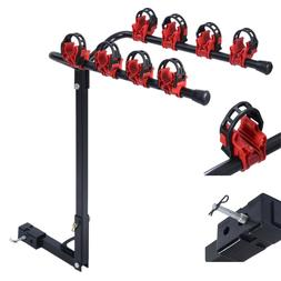 """4 Bicycle Bike Rack Carrier 1-1.4"""" & 2"""" Bicycle Hitch Mount"""