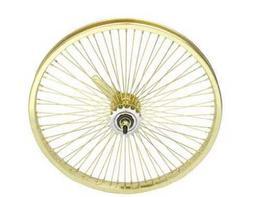 """20"""" 72 Spoke Coaster Wheel 14G Gold. Bicycle wheel, bike whe"""