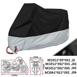 ANFTOP Black And Silver All Season Waterproof Sun UV Motorcy