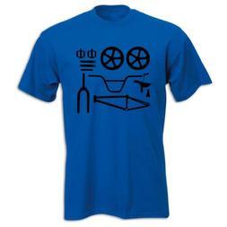 Bang Tidy Clothing Men's BMX Bike Parts T Shirt Blue XL
