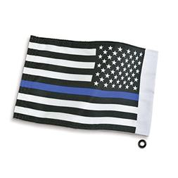 "Big Bike Parts 4-240LE 6"" x 9"" Thin Blue Line Flag, 1 Pack"