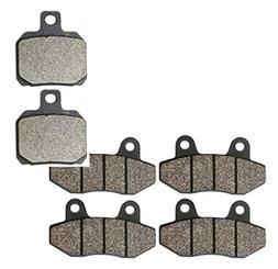 CNBK Motorcycle Semi Metallic Brake Shoe Pads Set for CF MOT