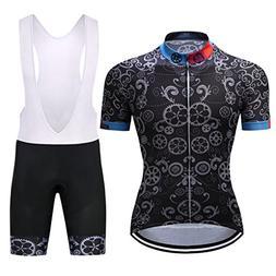 Cycling Bike Set Mountain Summer Sport Racing Bib Pants Suit