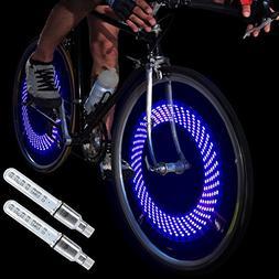 DAWAY A08 Bike Tire Valve Stem Lights - Cool Led Bicycle Whe