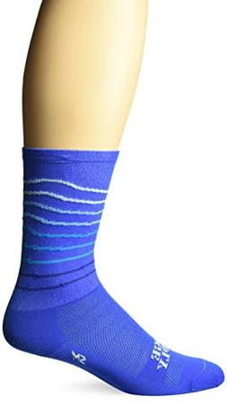 Defeet RSRLBLUE301 Ridgeline Socks, Large, Blue/Neptune