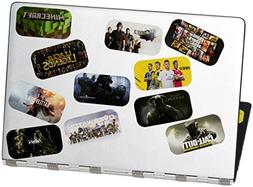 Gaming Life, stickers sheet with bold colorful iconic laptop