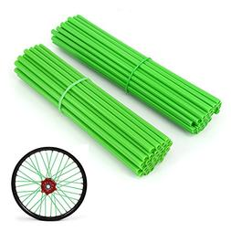JFG RACING 72 Pcs Green Motorcycle Spoke Covers Guards For 1