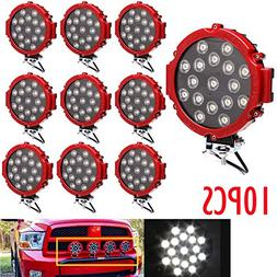 LED Offroad Lights 10pcs 7 inch Round Led Light Bar Fog Driv