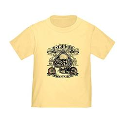 Royal Lion Toddler T-Shirt Lucky 7 Bikes Live To Ride Skull