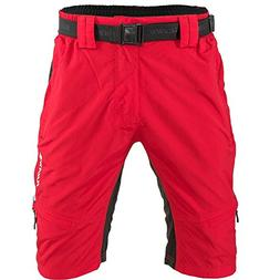 SILVINI Men's MTB Shorts MP857 red-Black 3XL