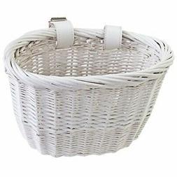 "Sunlite Bicycle Willow Bushel Front Basket Strap On Brown 13/""x8/""x9/"""