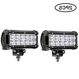 TURBO SII Pair 7 Inch Led Work Light Bar 36w Driving Spot Be