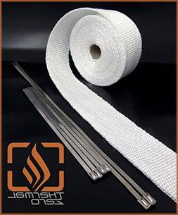WHITE High Temperature Header Exhaust Pipe Insulation Wrap K