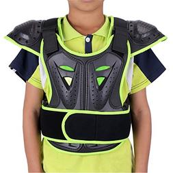 WINGOFFLY Kids Chest Spine Protector Body Armor Vest Protect