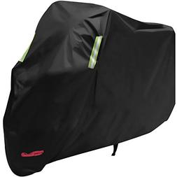 Waterproof Motorcycle Cover, All Weather Outdoor Protection,