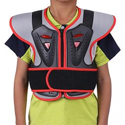 ZZ Lighting Kids Chest Spine Protector Body Armor Vest Prote