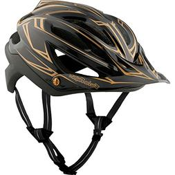 Troy Lee Designs A2 MIPS Helmet Pinstripe Black/Gold, XS/S