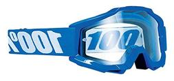 100% ACCURI Enduro Goggles Reflex Blue - Clear Dual Lens, On