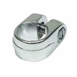 "1"" ALLOY SEAT POST CLAMP-SILVER BICYCLE BIKE"