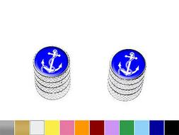 Anchor and Rope - Boating - Motorcycle Bike Valve Stem Caps