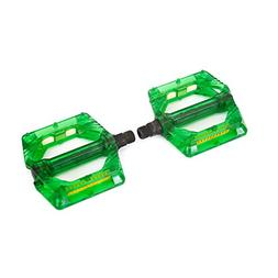 "Wellgo B223P-GREEN Cr-Mo Spindle 9/16"" DU Sealed Bearings Pe"
