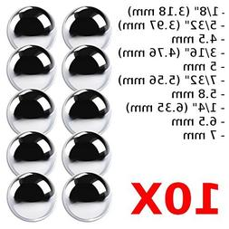 "cyclingcolors 10x BALLS BEARING STEEL 1/8"" 5/32"" 3/16"" 7/32"""