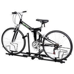 Heavy Duty Upright 2 Bike Bicycle Hitch Mount Carrier Platfo