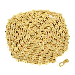 11 Speed Bicycle Chain - Ultralight Hollow-out Gold MTB Road