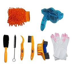 SHUGUAN Bicycle Cleaning Tool Kits 8 Pieces Bike Cleaning To