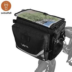 BV Bicycle Cycling Map Sleeve Quick-Release Front Basket Fra