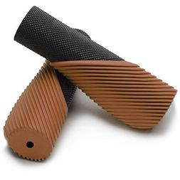 bicycle grip ergonomic design two color rubber