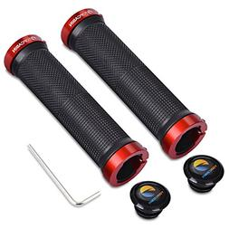 TOPCABIN Bicycle Grips,Double Lock on Locking Bicycle Handle
