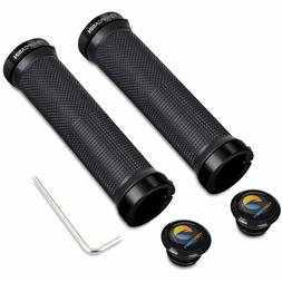 TOPCABIN Bicycle Grips, Double Lock on Locking Bicycle Handl