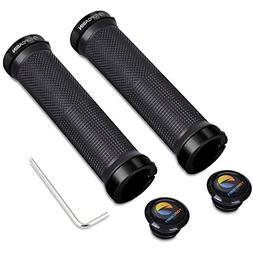 Bicycle Grips Double Lock on Locking Handlebar Grips Rubber