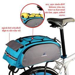 Meanhoo Bicycle Handlebar Rear Seat Trunk Bag Handbag Pannie