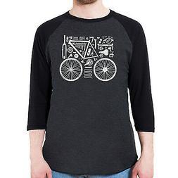 Bicycle Parts Men's American Apparel 3/4 Sleeve Baseball Shi